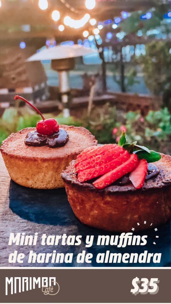 mini tartas y muffins